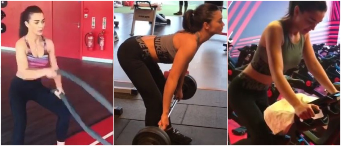 AMY JACKSON GYM WORKOUT
