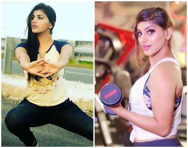 YASHIKA AANNAND GYM WORKOUT