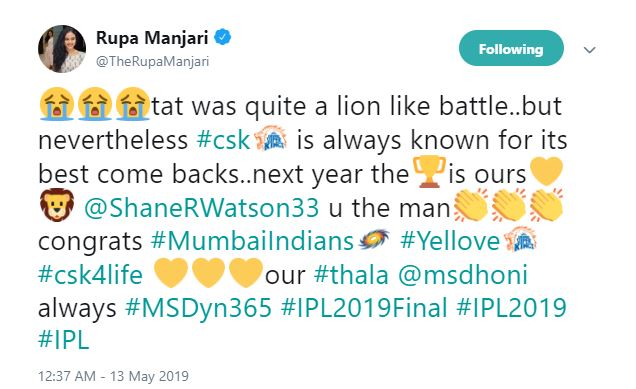 Chennai Super Kings Mumbai Indians IPL 2019 Final