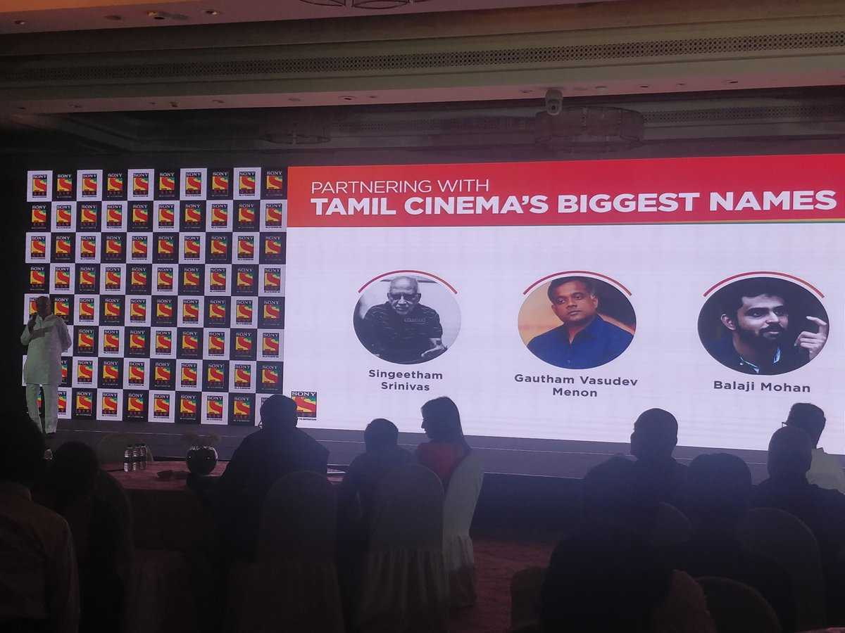 Sony Liv Tamil Launch Gautham Menon Balaji Mohan Singeetham Srinivas