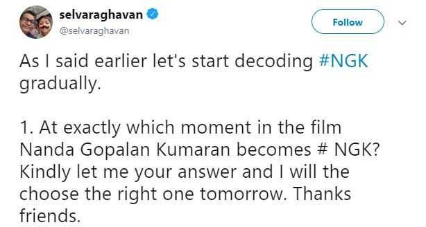 Selvaraghavan NGK Suriya