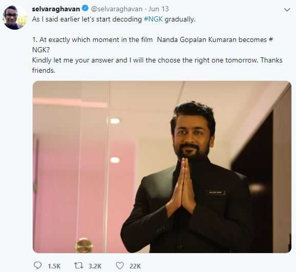 Selvaraghavan reveals major hidden details about NGK - decoding begins