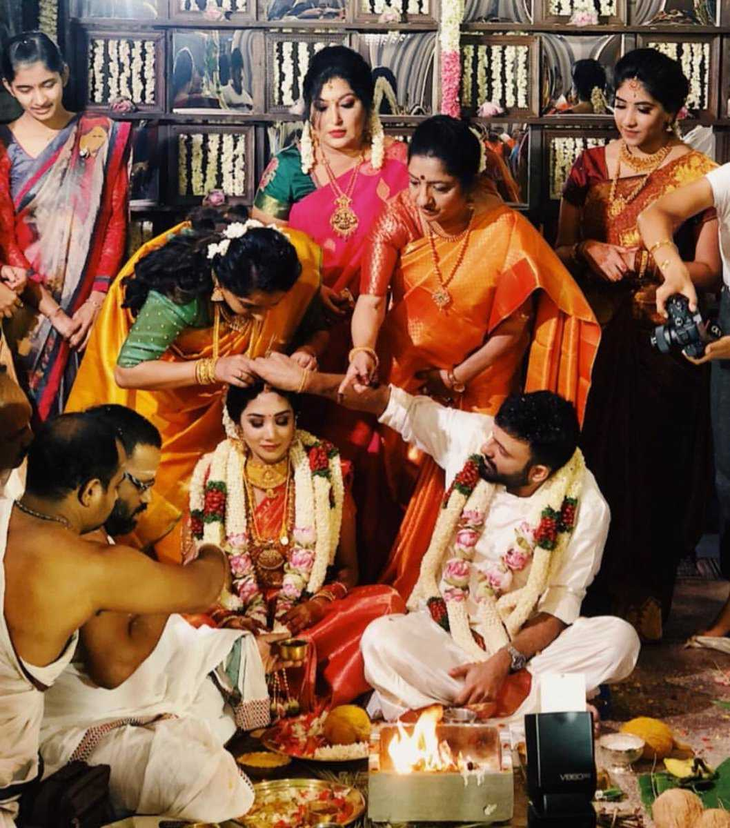 Image result for anand shankar marriage Divyanka Jeevanantham marriage