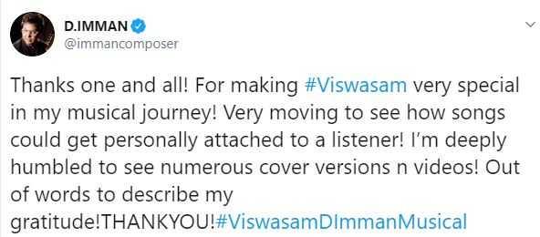 Viswasam D Imman Thala Ajith