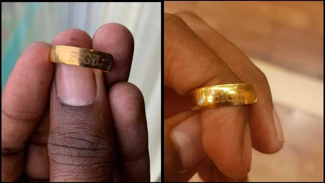 Bigil shooting spot Vijay gifts gold ring
