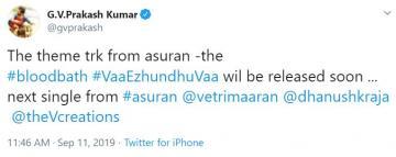 Asuran Theme Song Update By GVPrakashkumar