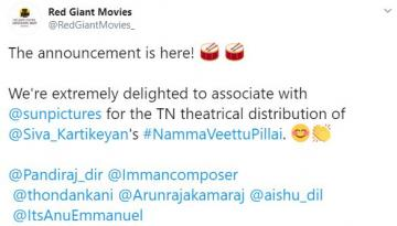 Sivakarthikeyan <a href='/wikipages/namma-veettu-pillai/' target='_blank'>Namma Veettu Pillai</a> TN rights Udhayanidhi Red Giant Movies