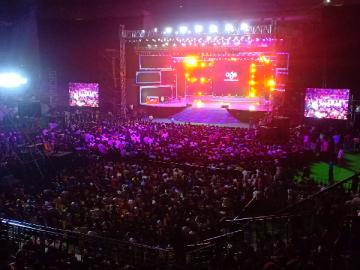 Massive crowd at #BigilAudioLaunch