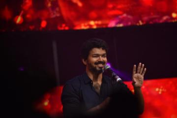 Thalapathy Vijay at <a href='/wikipages/bigil/' target='_blank'>Bigil</a> audio launch