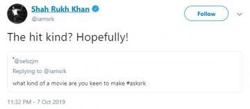 Shar Rukh Khan QA Session Twitter
