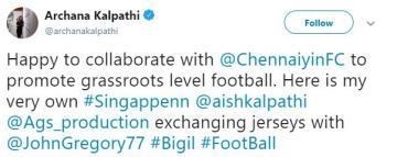 Thalapathy Vijay <a href='/wikipages/bigil/' target='_blank'>Bigil</a> football Chennaiyin FC