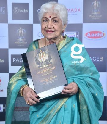 Sowcar Janaki full of energy at Galatta Wonder Women Awards