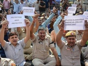 Delhi Police Protest
