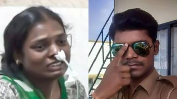 lady police sucide love issue