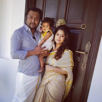 Reshmi menon becomes mother to baby boy bobby simha