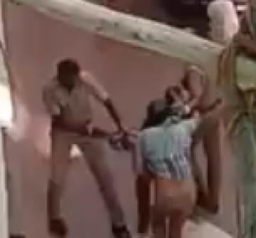 kanyakumari police attacked young man on a vehicle