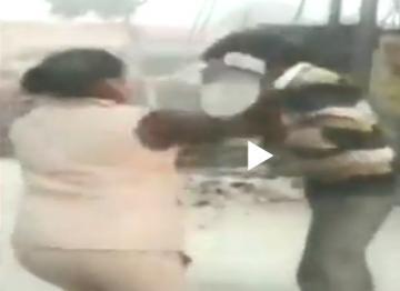 Uttar Pradesh policewomen thrash youths for eve teasing schoolgirls