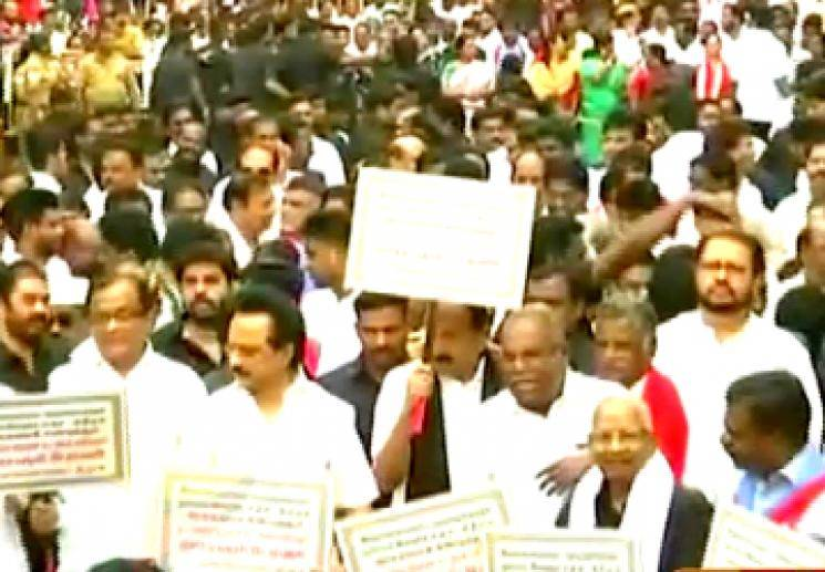 Chennai DMK Allianced Protest Rally CAA