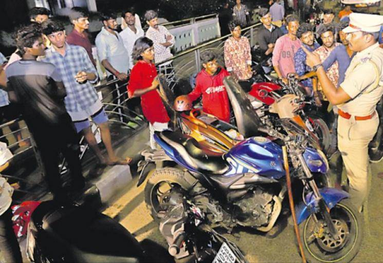 314 patients road accidents in Chennai on New year