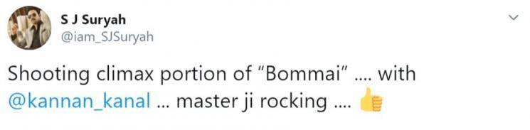 SJ Suriyas Bommai Climax Update