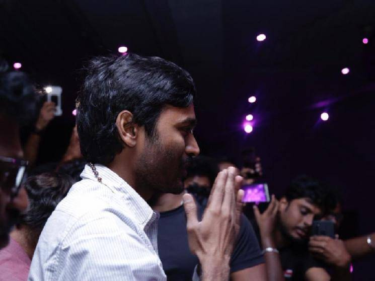 Dhanush watches Asuran on 100th day with fans