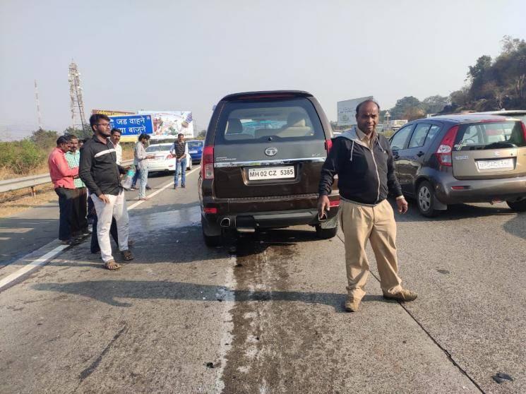 Shaban Azmi car accident Javed Akthar Mumbai Pune Express Highway