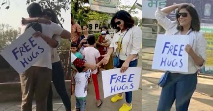 Richa Chadda celebrates National Hug Day