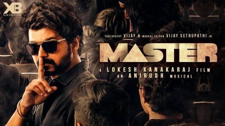 master third look poster featuring vijay and vijay sethupathi lokesh kanagaraj malavika mohanan anirudh ravichander