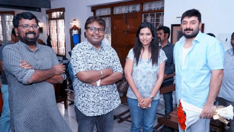 Arvind Swami Vanangamudi shooting update Ritika Singh Simran Chandini Tamilarasan Nandita Swetha director Selva D Imman musical