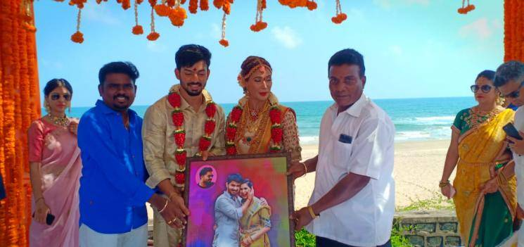 Mahat Raghavendra Prachi Mishra wedding photos go viral STR Simbu Dhivyadharshini DD Rio Raj Ma Ka Pa Anand