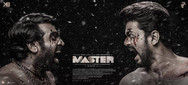 Thalapathy Vijay Master banners in Sathyam Cinemas Chennai Vijay Sethupathi Lokesh Kanagaraj Anirudh