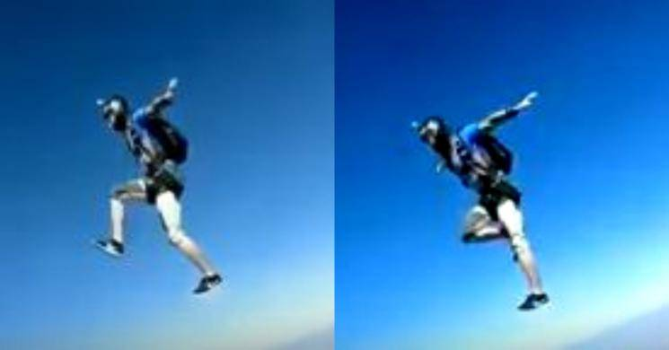 Youth jumps off American plane viral video