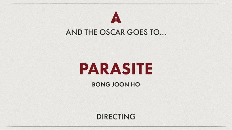 Oscars 2020 Bong Joon ho wins Best Director Award for Parasite 92nd Academy Awards