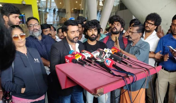 Suriya speech at Soorarai Pottru Veyyon Silli song launch GV Prakash Sudha Kongara