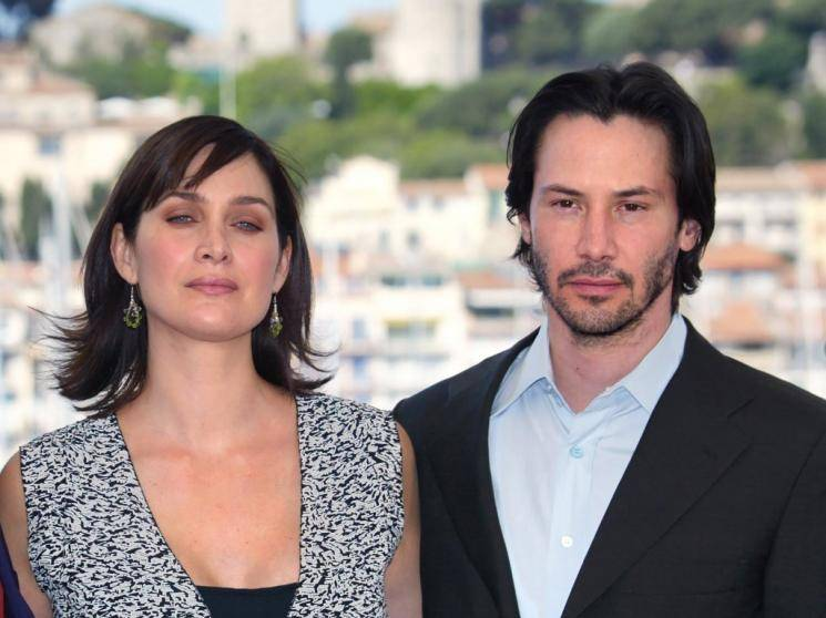 Keanu Reeves The Matrix 4 shooting spot videos go viral Carrie-Anne Moss