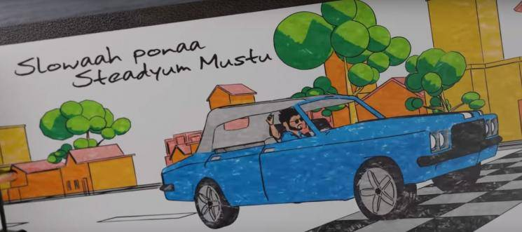 Thalapathy Vijay vintage classic car in Master Kutty Story song revealed