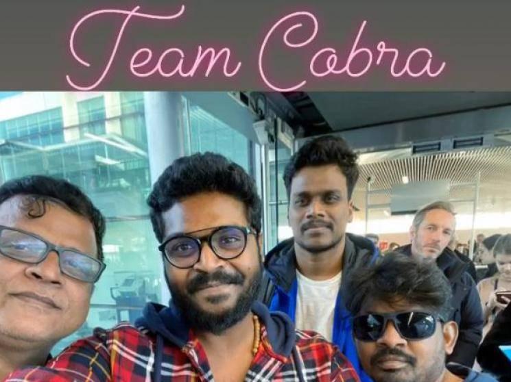Chiyaan Vikram Ajay Gnanamuthu Cobra team fly to Paris for shoot