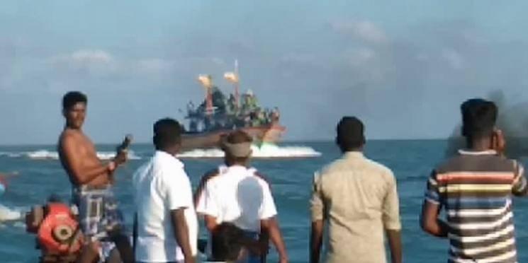 Fishernen clash in Nagapattinam sea