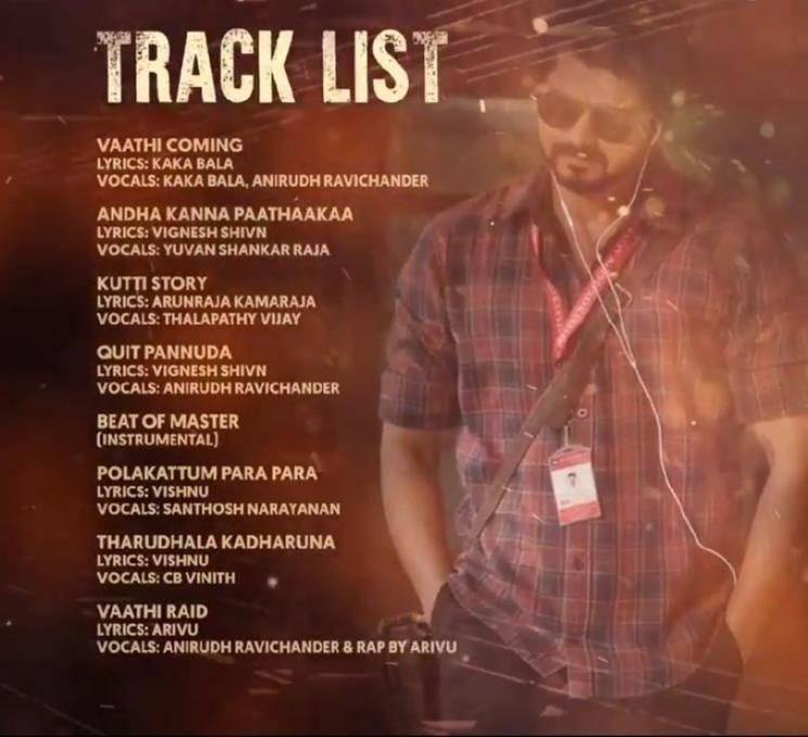 Master Audio Tracklist Official Anirudh Yuvan Santhosh