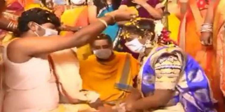 Viral Video: Masked wedding in Andhra