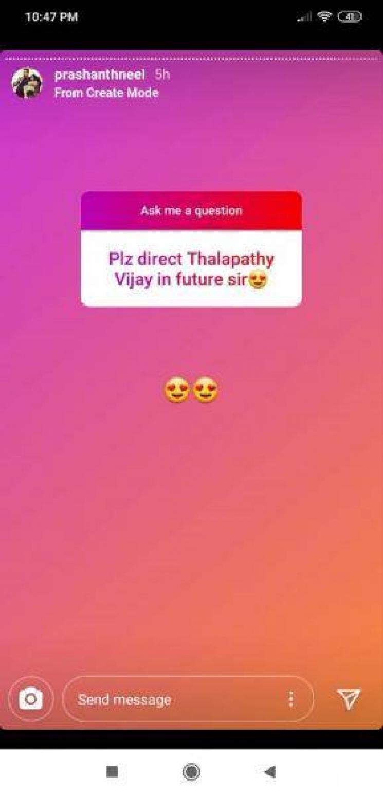 KGF Director About Thalapathy Vijay Suriya Yash