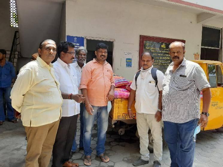 Director Hari Prakashraj donate rice bags to FEFSI employees