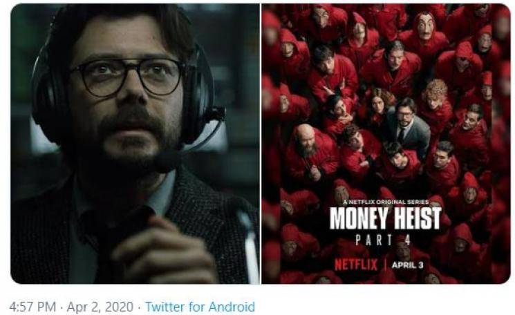 Aadai director Rathna Kumar Master Vaathi Coming Money Heist 4 Netflix