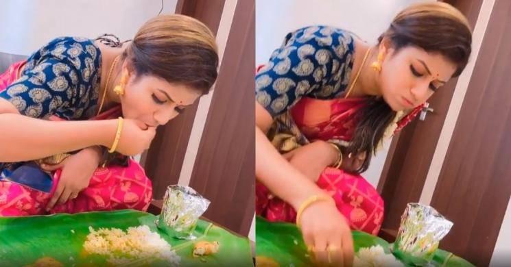 Raja Rani Alya Manasa full meals eating video goes viral