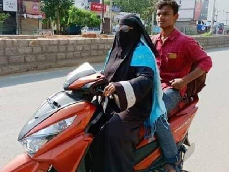 Telangana lady makes 1400 km trip on scooty to bring home son