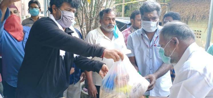 Vishal donates monthly groceries to 1500 members of Nadigar Sangam
