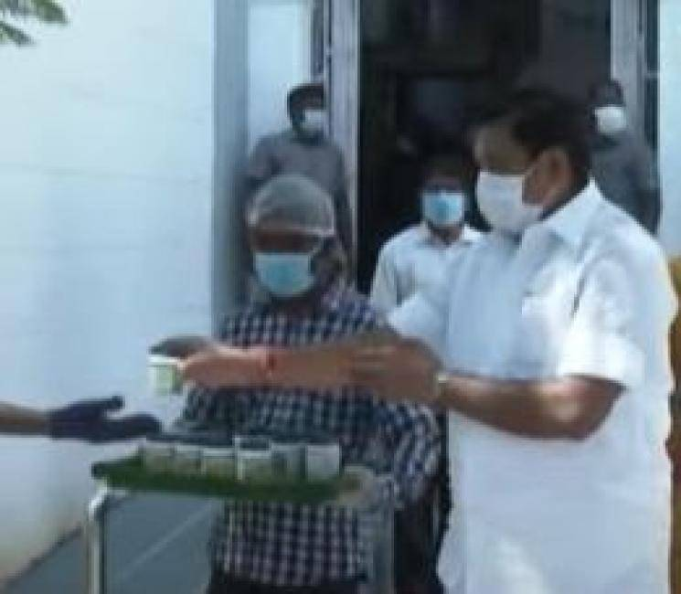 CM Palanisamy Provided Kapasura drinking water to police