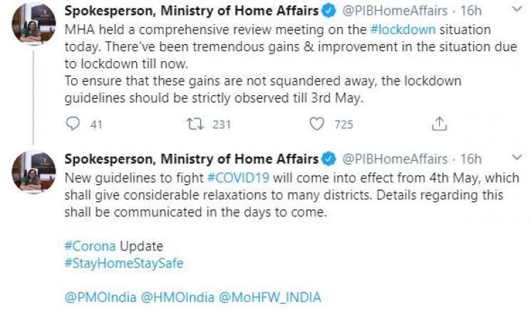 New guidelines to fight coronavirus from May 4 Home Ministry India lockdown