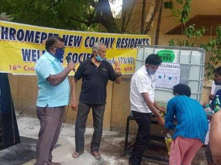 Chennai activist installs sanitiser plant at home and distributes free sanitiser to people!