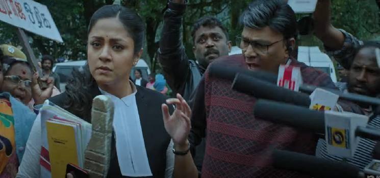 Jyotika's Ponmagal Vandhal Official Trailer   Suriya   Prime Video